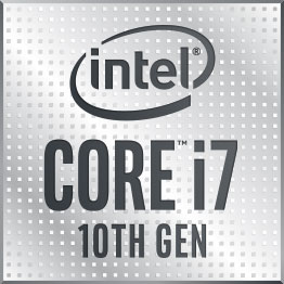 Powered by 10th Gen Intel ® Core™ i7 processors