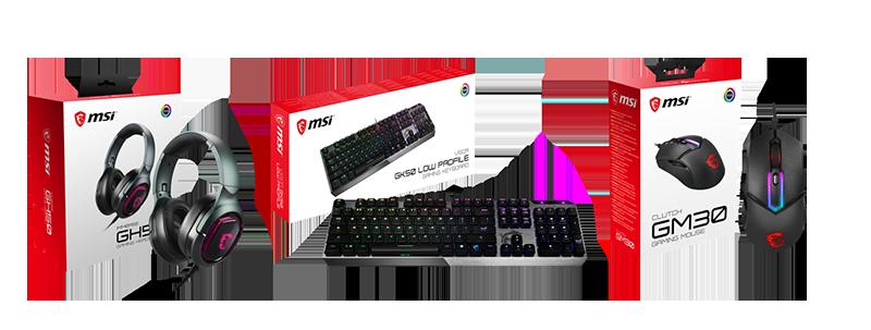 GH50電競耳機、GK50 Low Profile電競鍵盤、GM30電競滑鼠