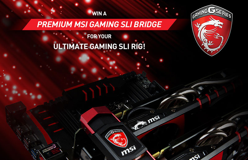 MSI GAMING SLI BRIDGE WINNERS
