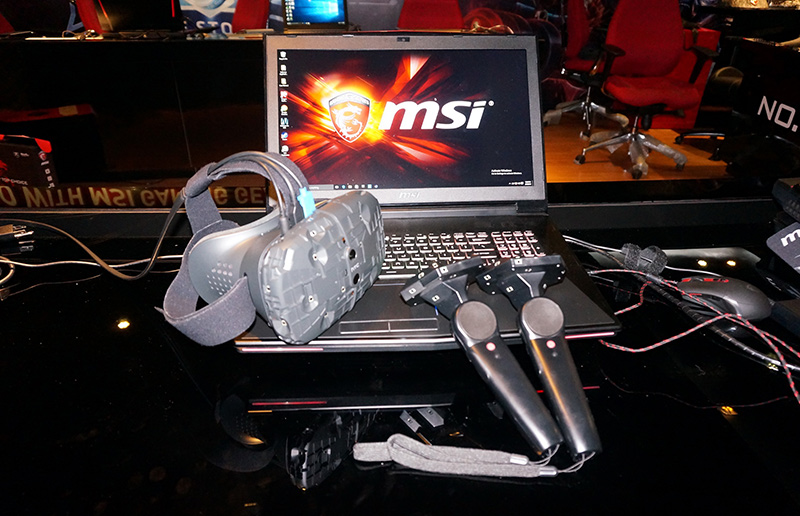 MSI GT80 and GT72S VR ready models with HTC VIVE VR ready games!