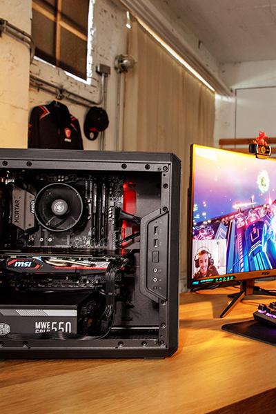 Guide de montage pour un PC de streaming mATX avec la carte mère B450M MORTAR