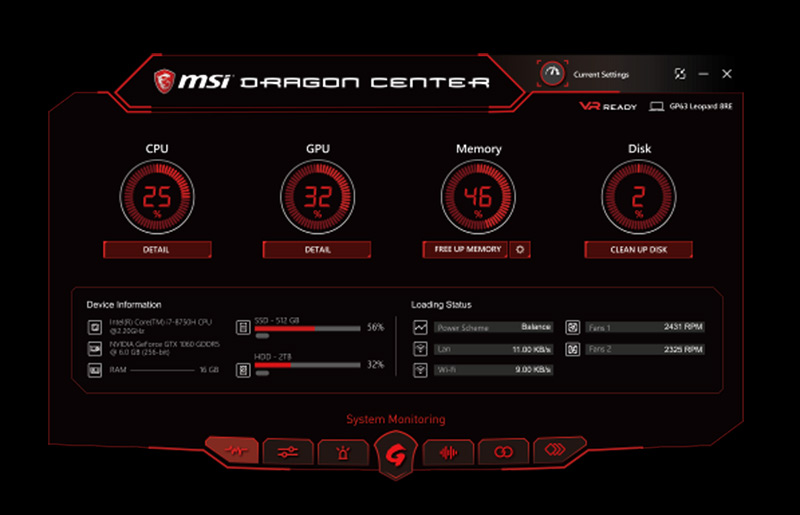 〈Característica exclusiva de MSI 〉Presentamos Dragon Center 2.0