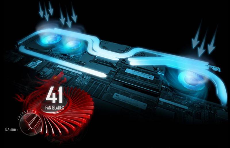 Новая архитектура охлаждения для ультра-тонкого GS63VR с графикой NVIDIA GEFORCE® GTX 1060