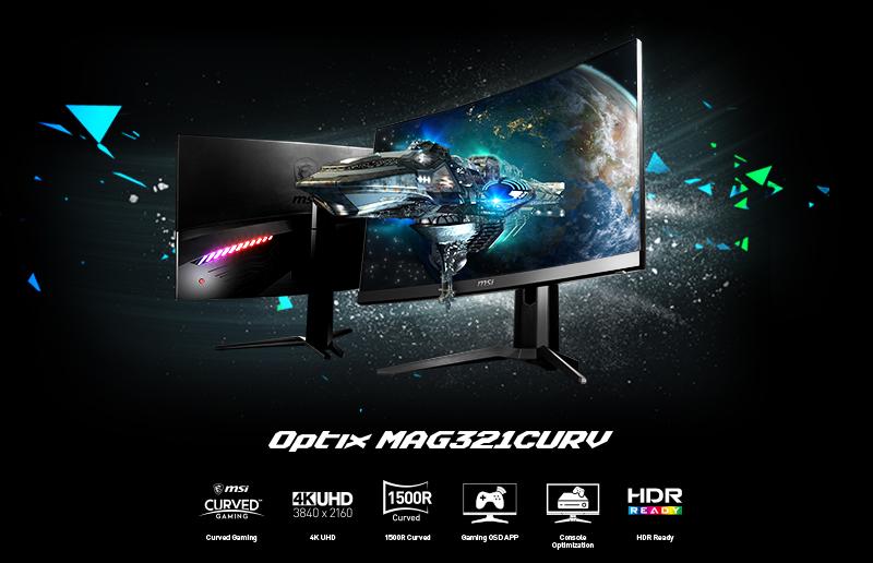 Przedstawiamy nowy monitor 4K do gier 4K - Optix MAG321CURV