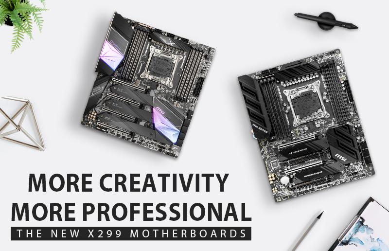 Ein Einblick in die neuen MSI X299-Motherboards