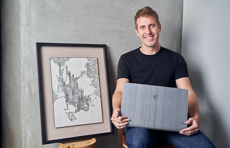 """""""Podróżujący w czasie"""" artysta, Tom Rook: Wyzwania związane z odnajdywaniem historii za pomocą map. Do renderowania wizerunku całych miast, potrzebny jest niesamowicie mocny sprzęt."""