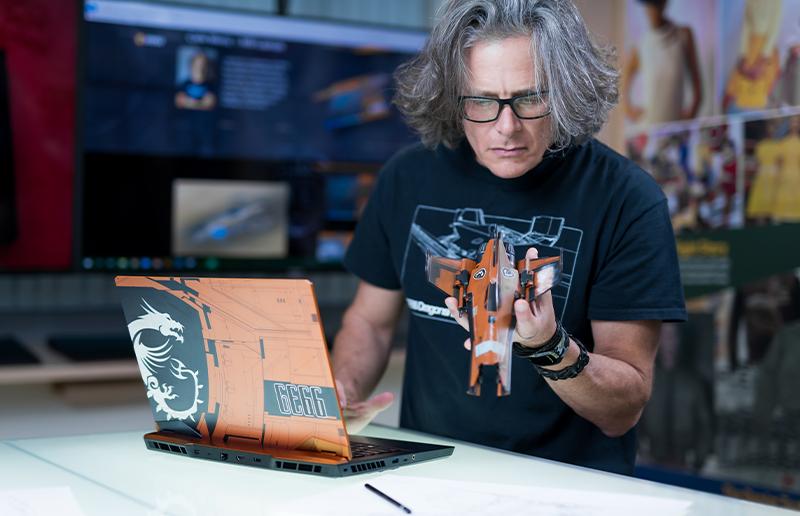 Футуристический ноутбук GE66 Dragonshield Limited Edition: машина из космоса!