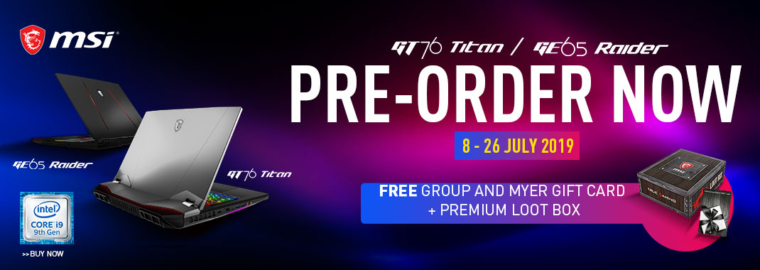 Pre-order GT76 and GE65