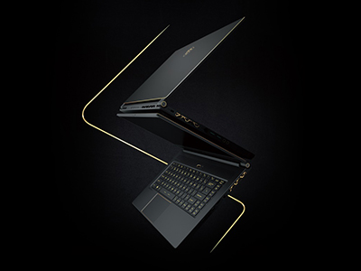 MSI GS65 Stealth Thin, transcending the gaming laptop aesthetics with world's 1st 144Hz thin bezel display.