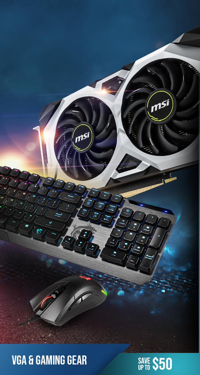 Save up to $50 on Graphics Cards and Gaming Gear
