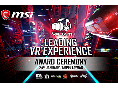 MSI the pioneer in VR Gaming crowns winners of VR JAM<br> January 24th, come to witness fabulous VR Gaming masterpieces and<br> outstanding honorees with awesome prizes at Syntrend!