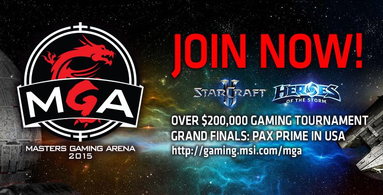 200.000 $ MSI Masters Gaming Arena 2015