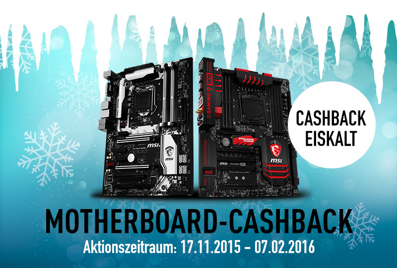 MSI startet Winter-Aktion »Cashback Eiskalt«