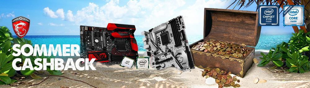 MSI und Intel starten gemeinsame Sommer-Cashback-Aktion
