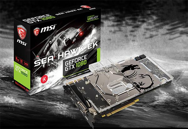 MSI kündigt GeForce GTX 10-Modelle mit vorinstalliertem Waterblock von EK an
