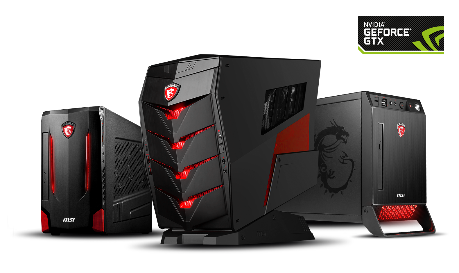 MSI Gaming-PCs mit GeForce GTX 10 Grafik