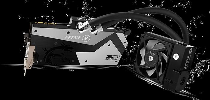 30 Jahre MSI: Limitiertes Sondermodell der GTX 1080 mit Close-Loop-Wasserkühlung von EK