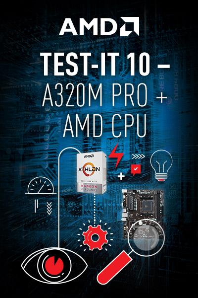 MSI Test-IT geht in die zehnte Runde mit dem MSI A320M PRO-VH PLUS und AMD Athlon 200GE!