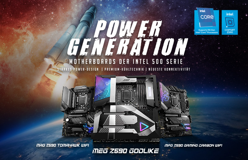 MSI Z590 Series Motherboards