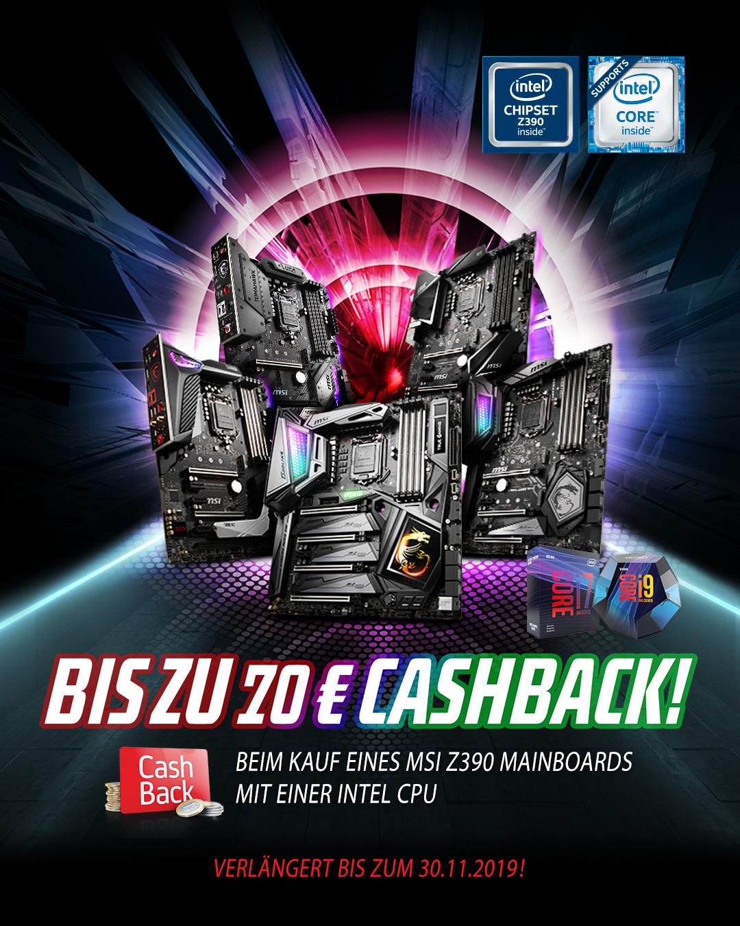 Intel Z390 Cashback
