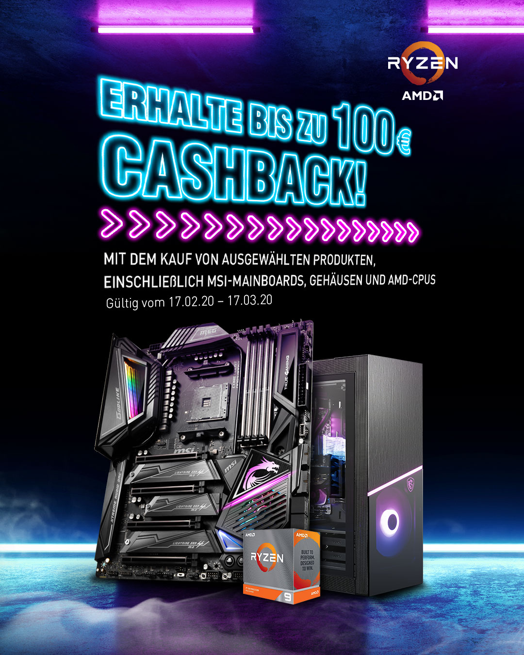 Claim up to €100 cashback
