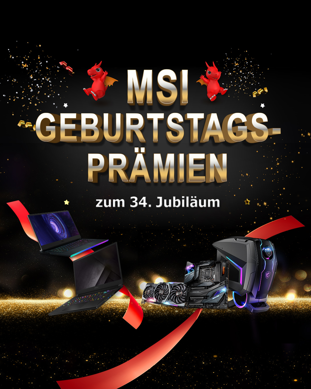 MSI Brand of the Month- 34th anniversary celebration banner
