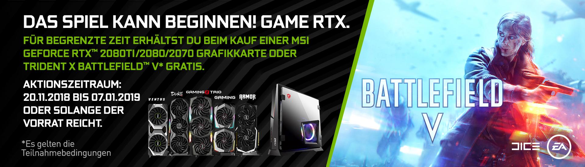Das Spiel kann beginnen! Game RTX.
