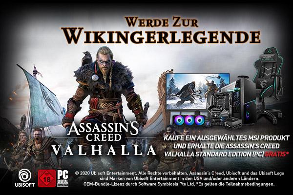 Assassin's Creed Valhalla - Highlight zum Game-Release: MSI Bundle-Aktion und GE66 Raider in der Special Edition