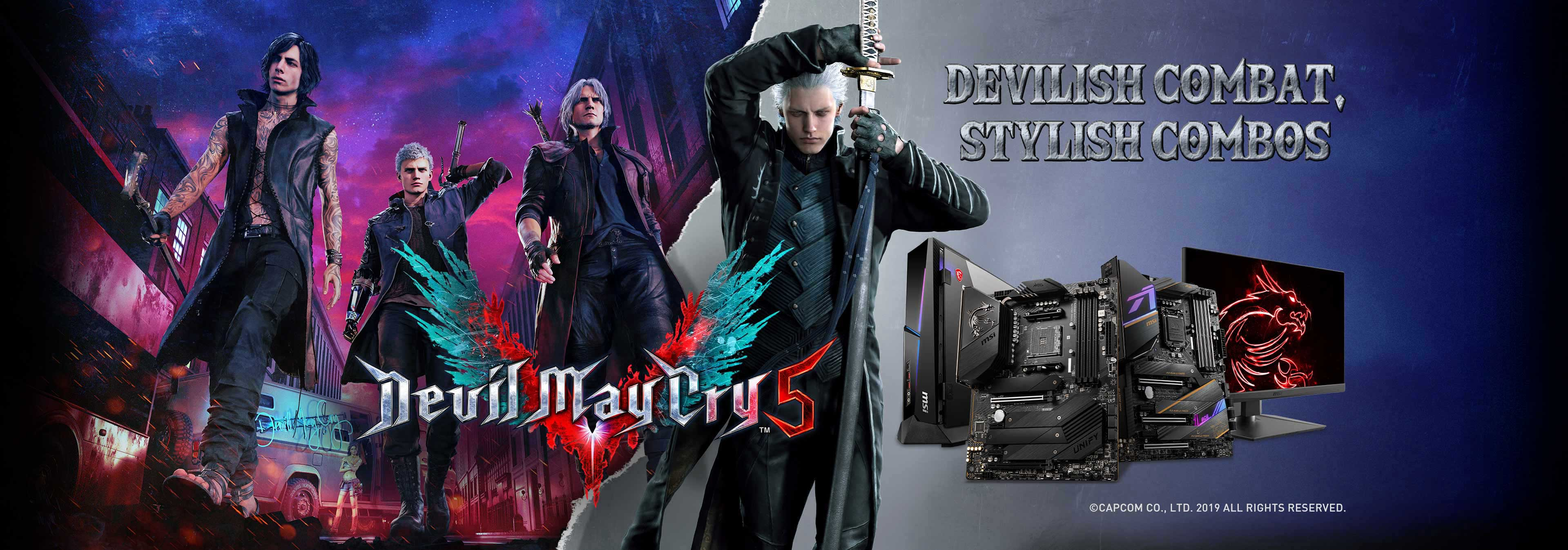 msi devil may cry event banner
