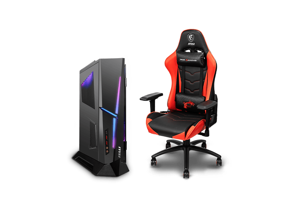 mis gaming chair and Trident 3