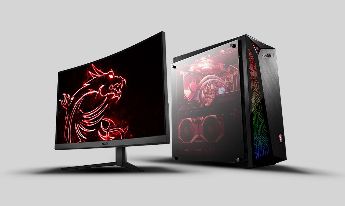 MSI Monitor + Desktop