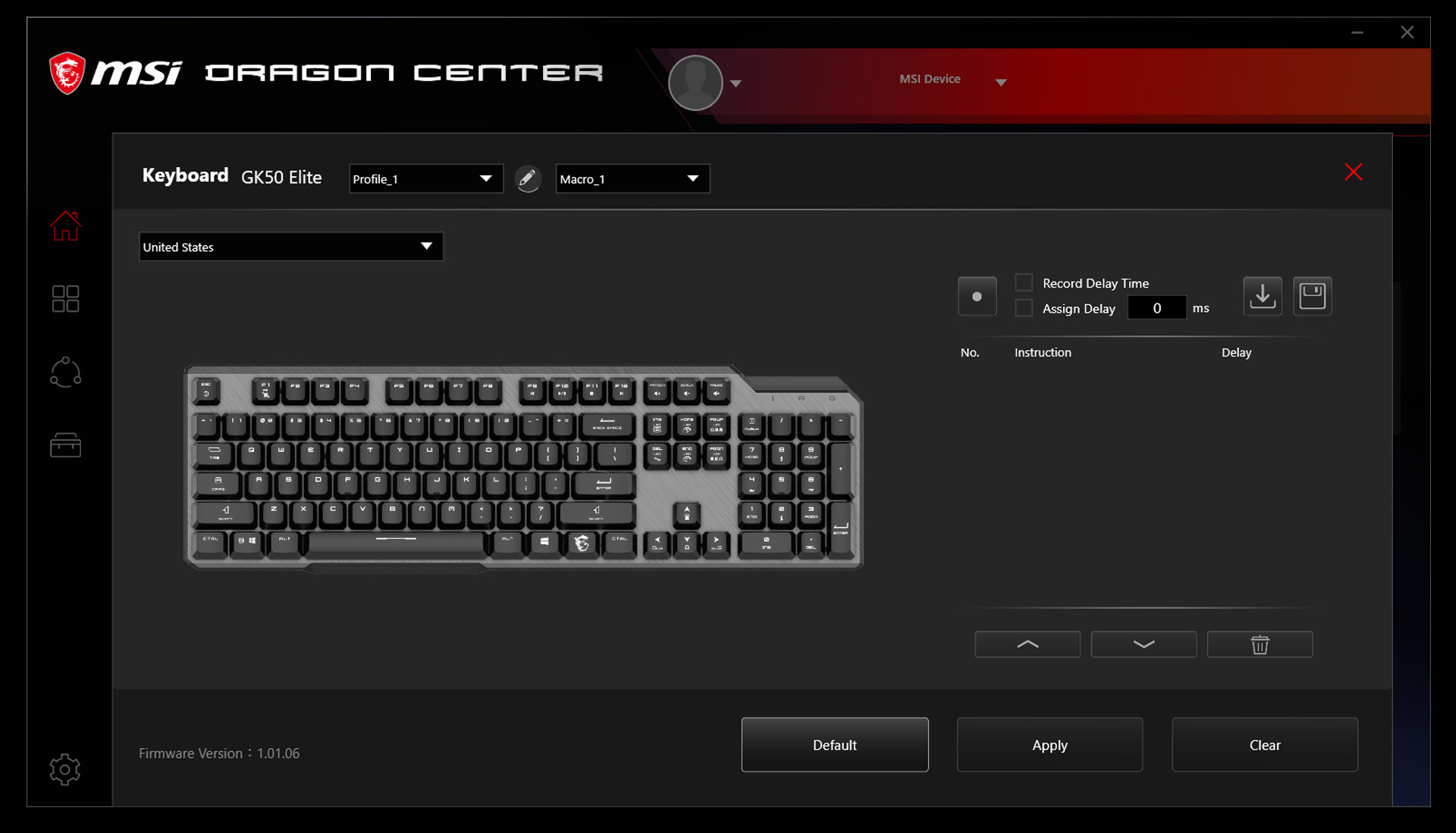 keyboard personalize setting