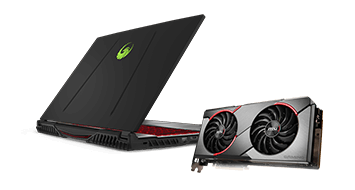 MSI AMD Radeon™ graphics card or laptop