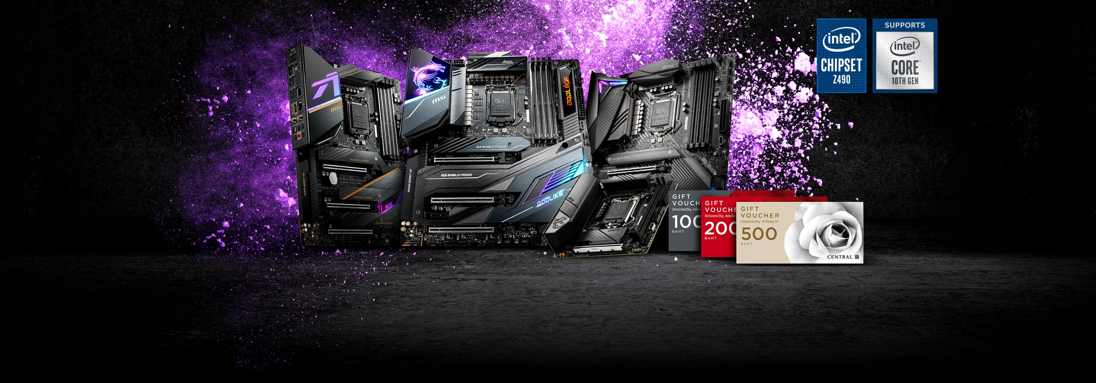 Z490 voucher July promotion banner