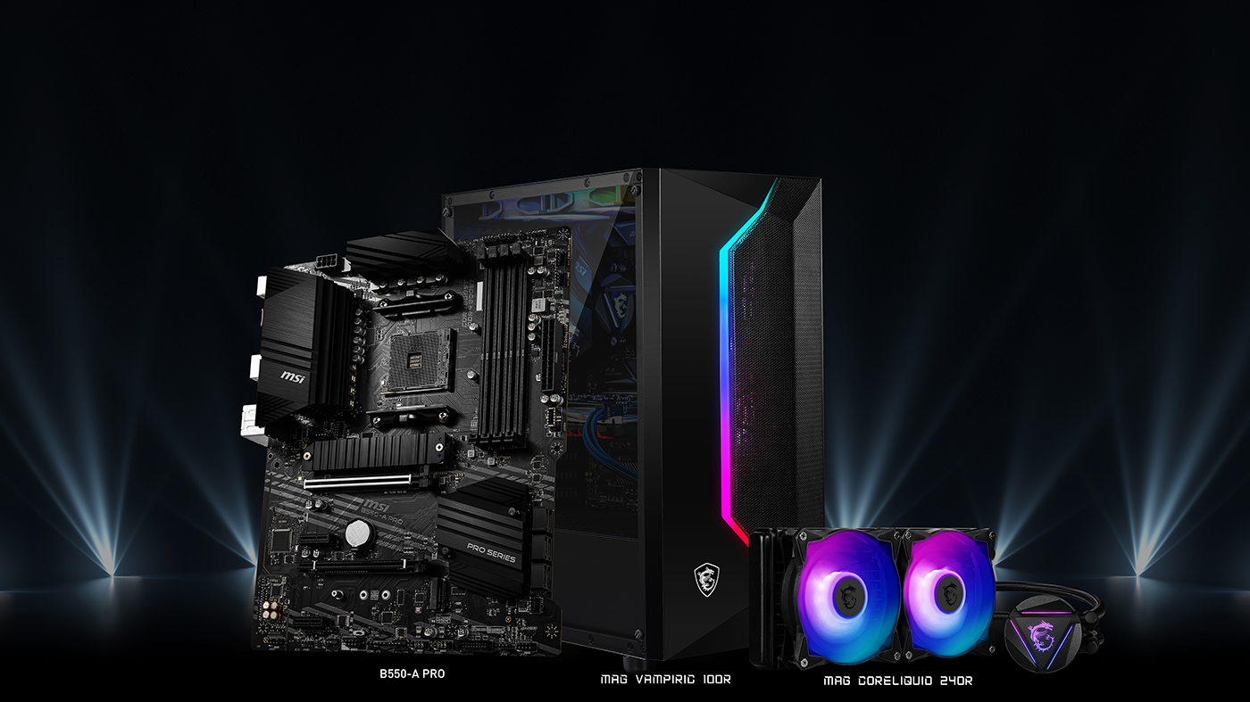 MSI MOTHERBOARDS B550 MAG FEAT CASE