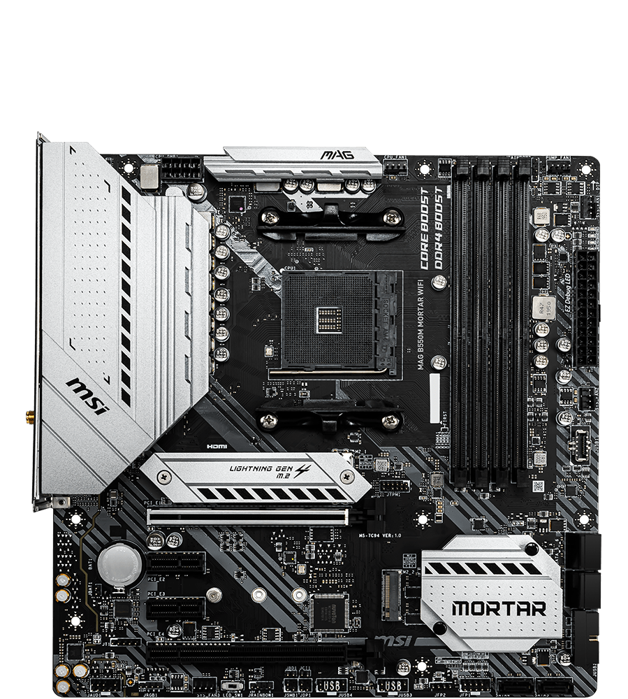 MSI MOTHERBOARDS B550M MAG MORTAR WIFI 2D