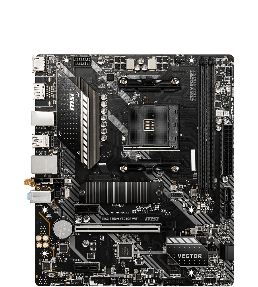MSI MOTHERBOARDS B550M VECTOR WIFI 2D