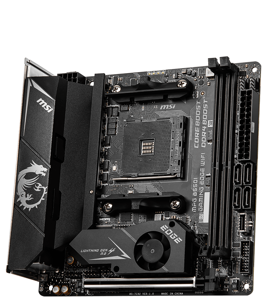 MSI MOTHERBOARDS B550I MPG GAMING EDGE WIFI 3D2