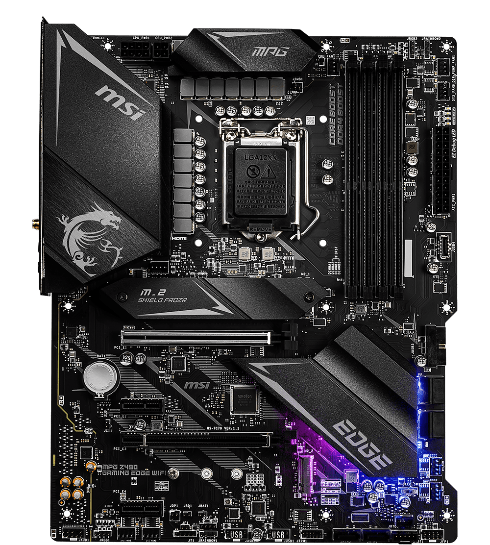 MSI MOTHERBOARDS Z490 MPG GAMING EDGE WIFI 2D