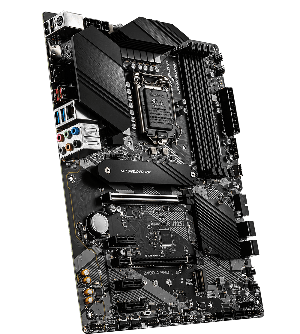MSI MOTHERBOARDS Z490-A PRO 3D3