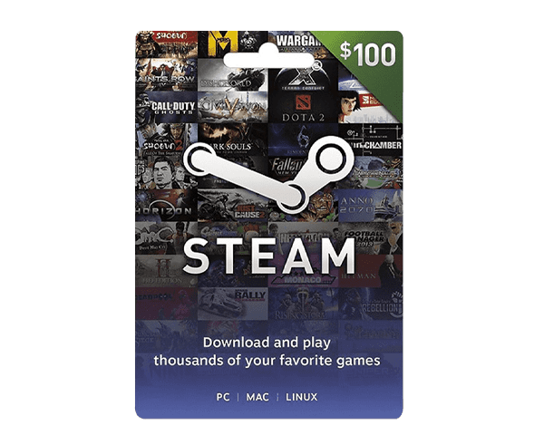 Steam Wallet $100