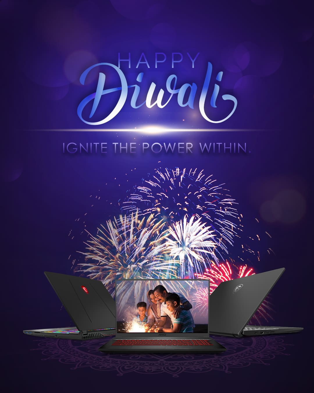 happy Diwali ignite the power within banner