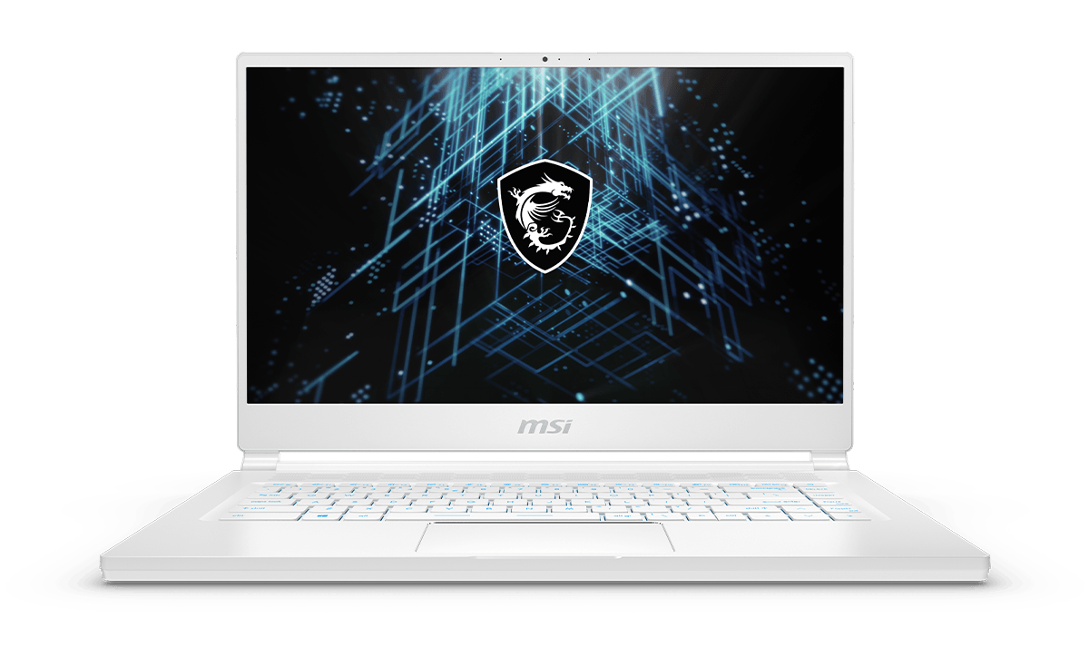 msi stealth15 award laptop white color