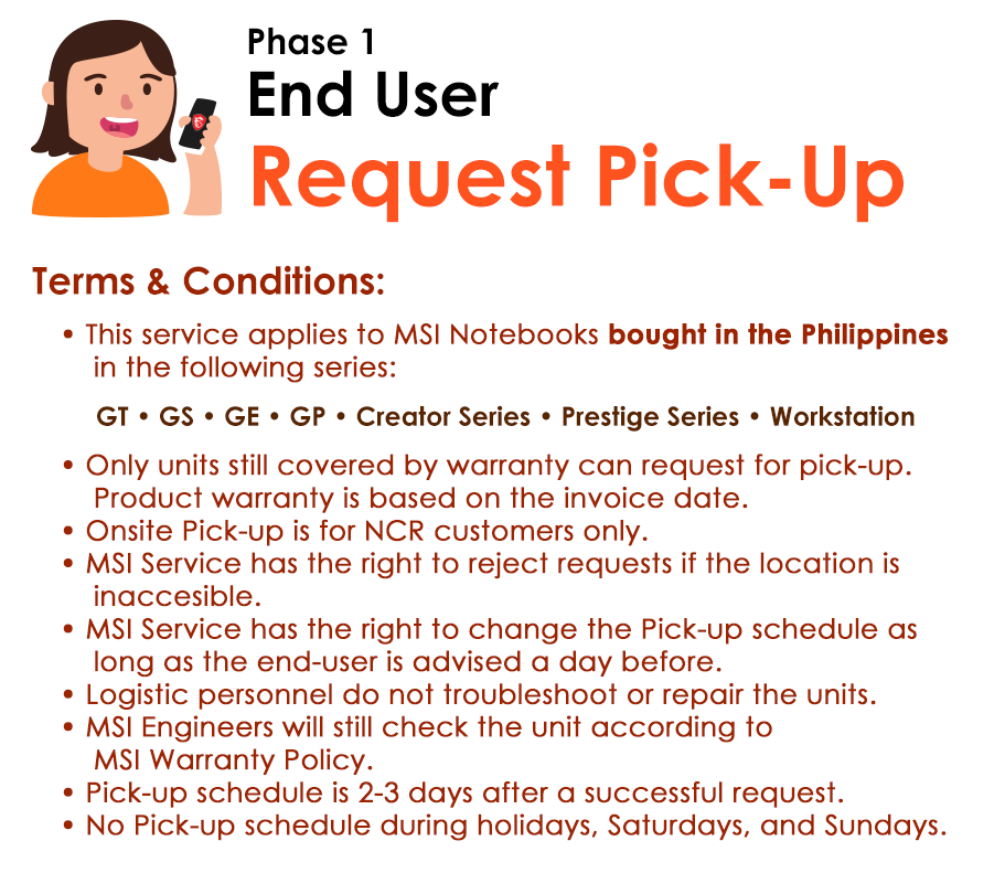 End User : Request Pick-up