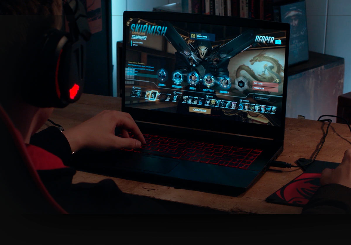 gaming at home with msi laptop