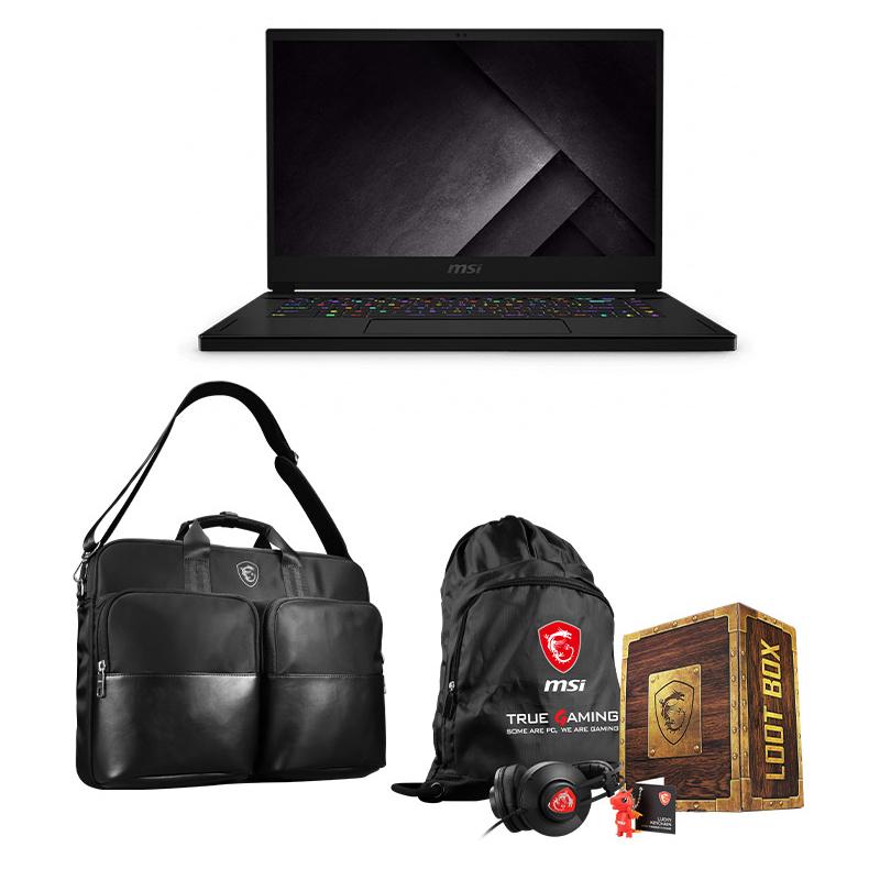 msi gs series laptop with 禮盒包 及行動側背包