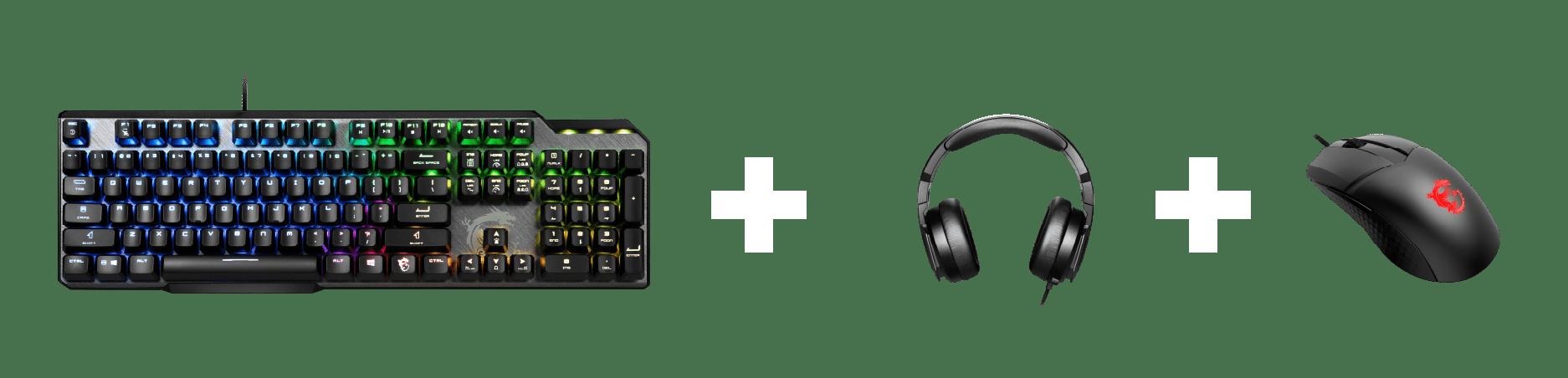 MSI Keyboard + Headset + Mouse