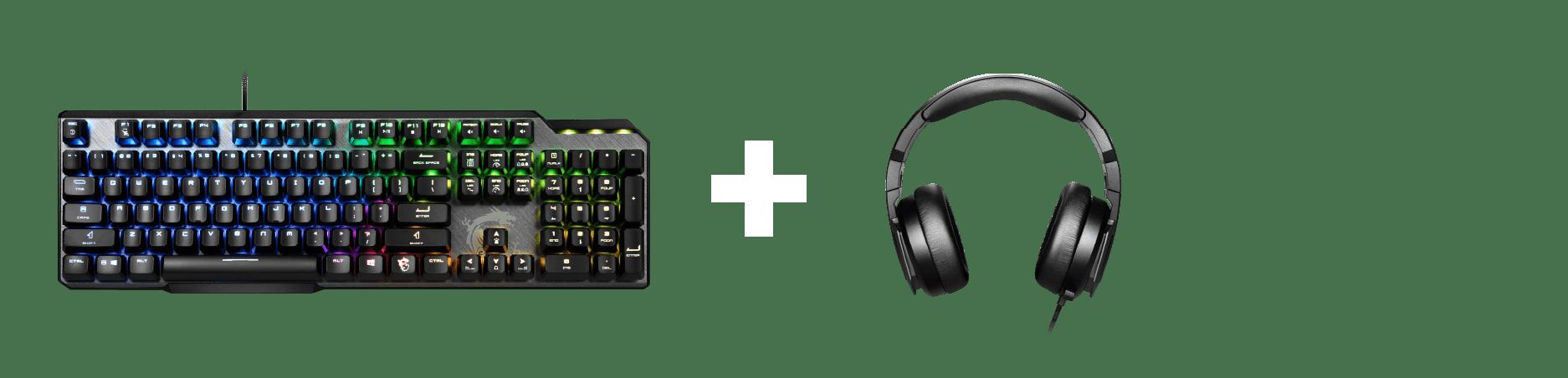 MSI Keyboard + Headset