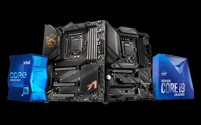 MSI Motherboard Z590 / B560 + 10th gen / 11th gen CPU