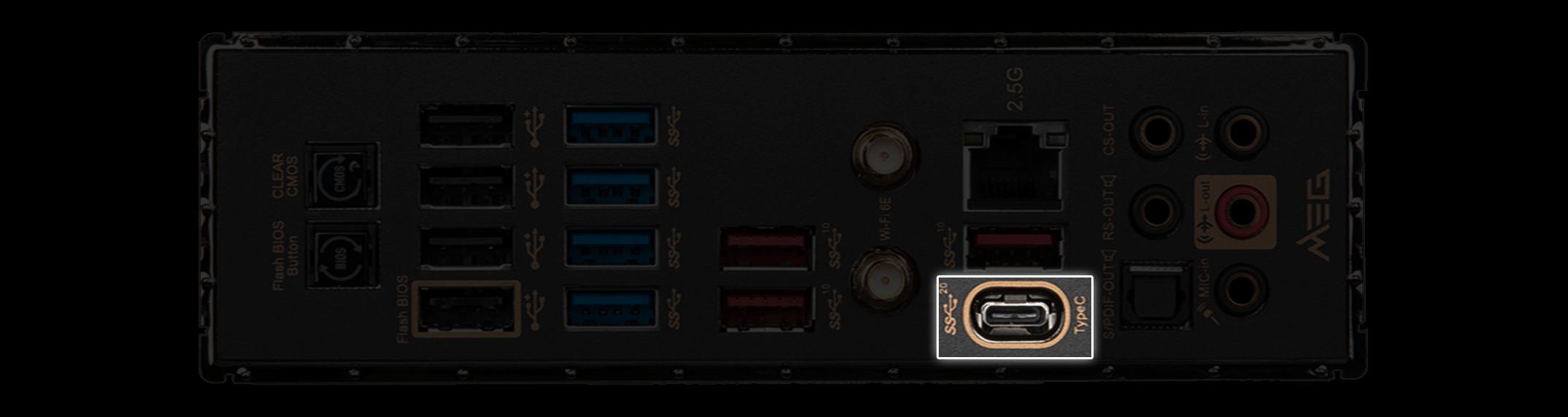 MSI X570S Motherboard Faster Lightning USB 20G